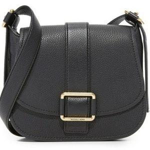 MICHAEL Michael Kors Maxine Large Black Saddle Bag